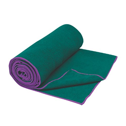 "Gaiam Yoga Mat Towel, Turquoise Sea/Radiant Orchid, 26"" x 72"""