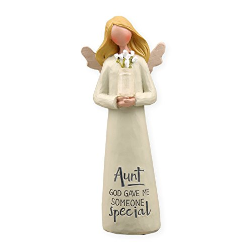 God Gave Someone Special Angel with Flowers 2 x 5 Inch Resin Tabletop Figurine ()
