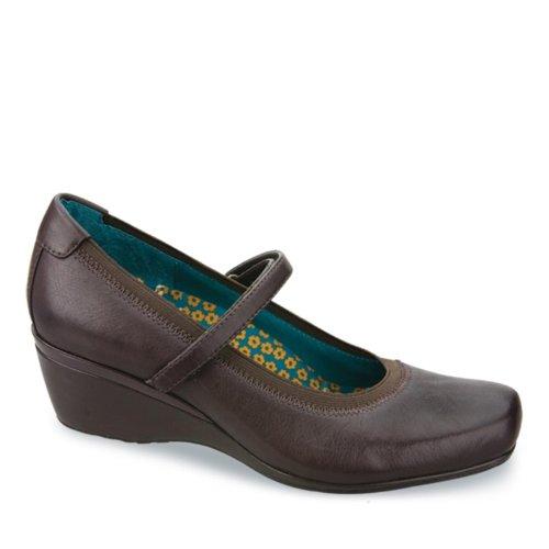 Aetrex Mujeres Gloria Mary Jane Diabetic Zapatos Cuero Castaño