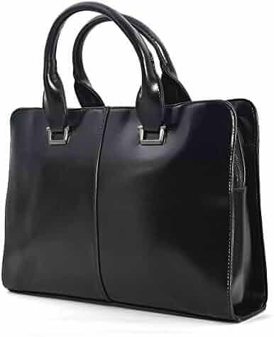 JinDiLong Mens Leather Briefcase Laptop Bag Shoulder Messenger bag