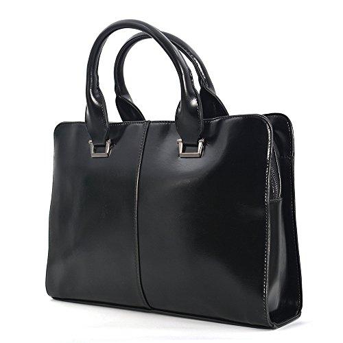 JinDiLong Womens Leather Briefcase Laptop Bag Shoulder (Weekend Briefcase Bag)