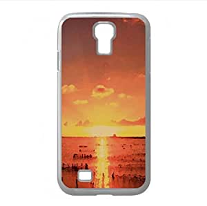 Fishing Nets, Sunset Watercolor style Cover Samsung Galaxy S4 I9500 Case (Beach Watercolor style Cover Samsung Galaxy S4 I9500 Case)