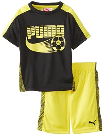 Amazon.com PUMA Little Boysu0026#39; Soccer Set Black 4 Clothing