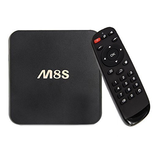 9 opinioni per M8S Android 4.4 TV Box 2GHz Quad Core Amlogic S812 1GB di RAM 8GB di ROM KODI