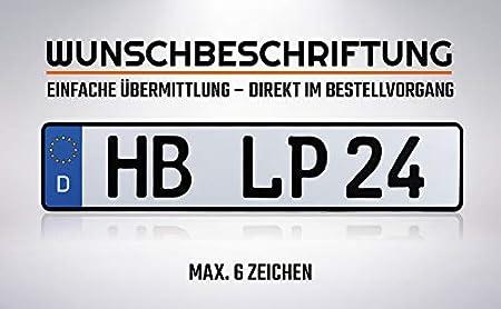 V3: 2 St/ück 460mm x 110mm 2 St/ück KFZ Kennzeichen Nummernschild 460x110mm Wunschkennzeichen DIN zertifiziert Autokennzeichen auch f/ür Fahrradtr/äger Anh/änger LKW Wunschpr/ägung amtliches Autoschild