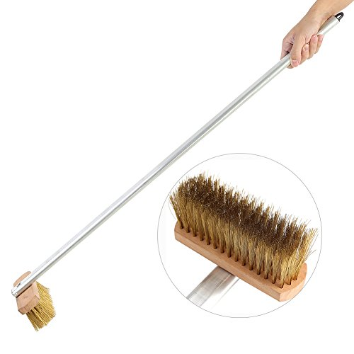 (Oven Grill Brush, Copper Wire Grill Bristles Pizza BBQ Oven Cleaning Brush Scraper with 37