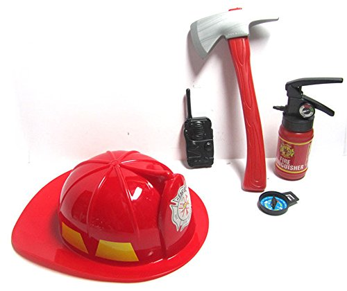 Toy Fireman Hats And Police Hats Set for Kids boys (Firemans Hat)