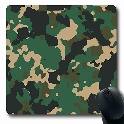 Ahawoso Mousepads Pattern Brown Camoflauge Woodland Camo 200 Army Uniform Technology Green Camouflage Paintball Oblong Shape 7.9 x 9.5 Inches Non-Slip Gaming Mouse Pad Rubber Oblong -
