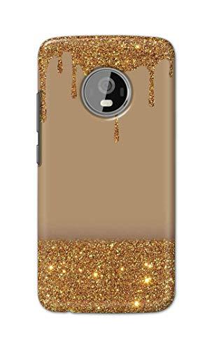 skyco back cover for motorola moto g5 plus   golden glitter sparkles shine