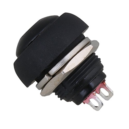 BQLZR Waterproof Momentary On//Off Reset Push Button Switch Black for Car Boat Pack Of 6