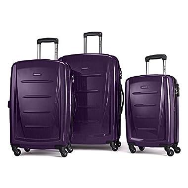 Samsonite Winfield 2 Fashion Hardside 3 Piece Spinner Set, Purple, One Size