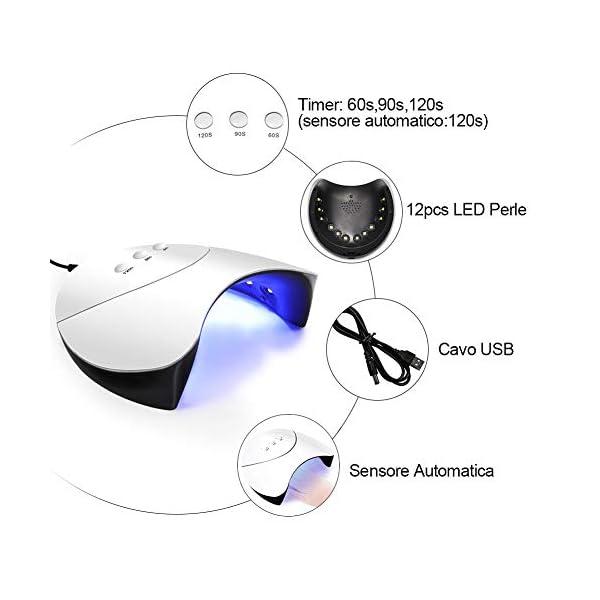 Saint-Acior Set Smalto Semipermanente per Unghie 12pz Soak off UV Nail gel con 36W LED+UV Sensore Automatica Lampada per…