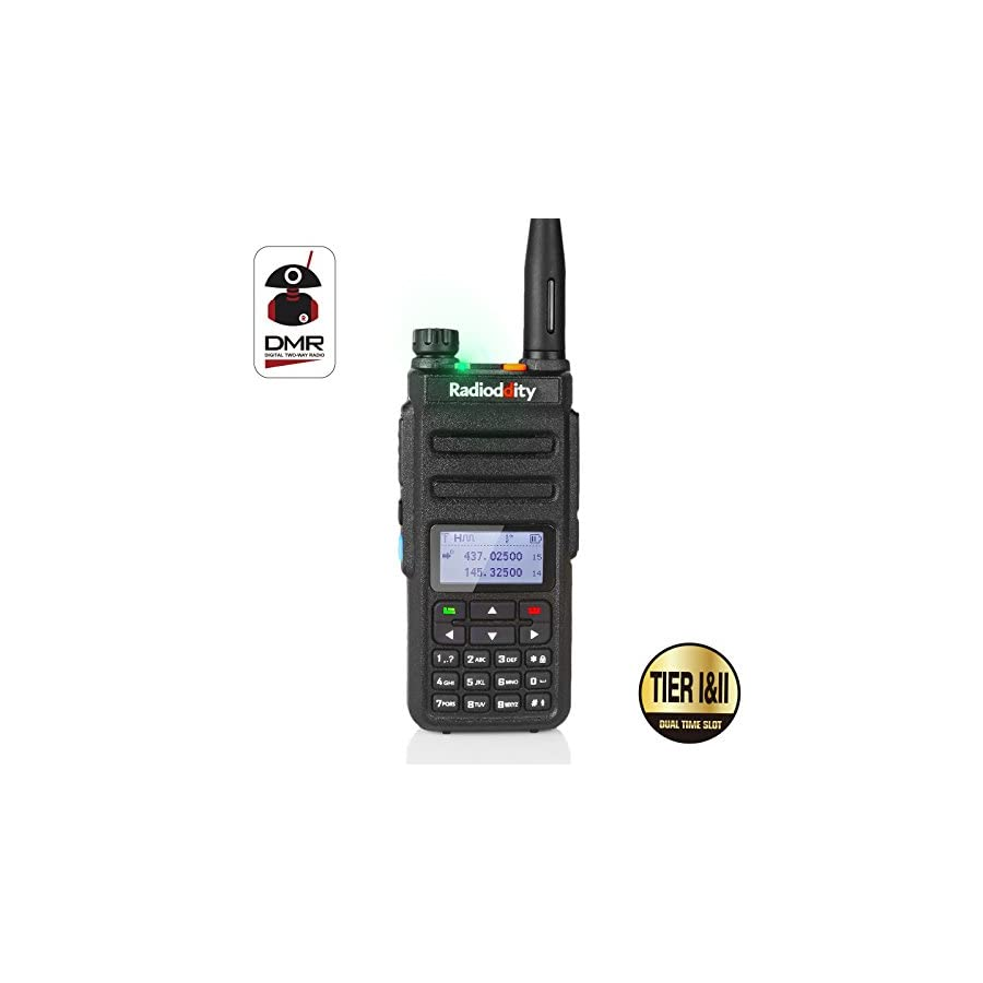 Radioddity GD 77 Dual Band Dual Time Slot DMR Digital/Analog Two Way Radio 136 174/400 470MHz 1024 Channels Ham Amateur Radio with Free Programming Cable, Software and Charger