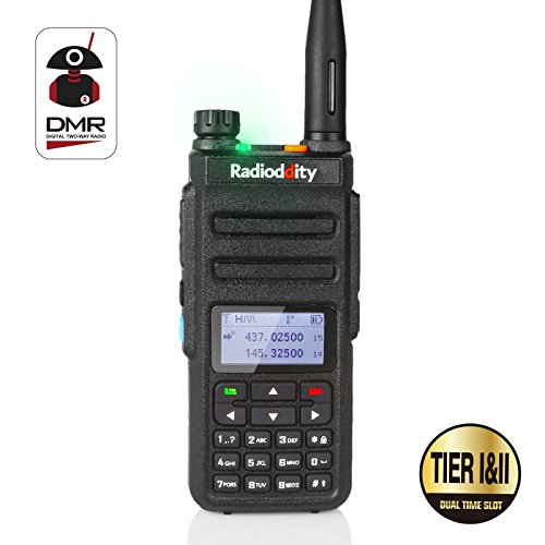 Radioddity GD-77 Dual Band Dual Time Slot DMR Digital / Analog Two Way Radio 136-174 /400-470MHz 1024 Channels Ham Amateur Radio Compatible with MOTOTRBO, Free Programming Cable by Radioddity