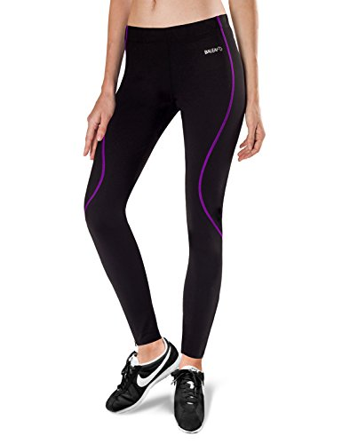 al Fleece Running Cycling Tights Black Purple Size M ()