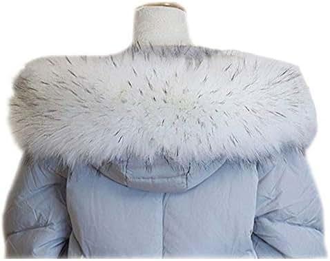 SmarketL Artificial Fur Collar Women's Round Neck Warm Scarf Shawl,80cm,WhiteBlackTips