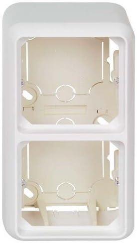 152 x 48 x 80 mm Blanc perle Elso ELG234210 Bo/îtier de montage en saillie pour KPL Fab