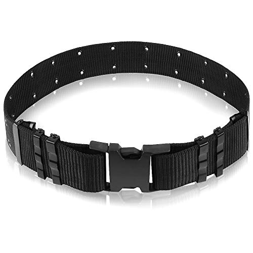 - AIRSSON Heavy Duty Belt Tactical Combat Police Utility Belt 1.5 inch Load Bearing with Quick Release Buckle (Police Belt)