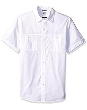 Men's Saltwater Dockside Chambray Solid Short Sleeve Shirt