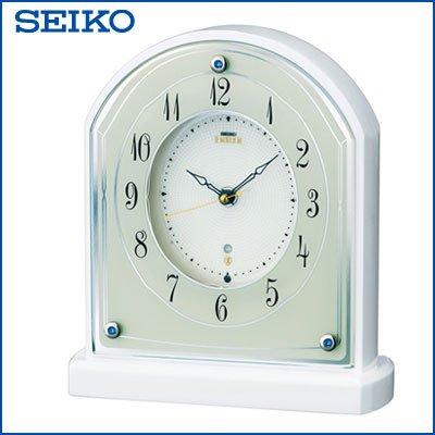 セイコー クロック 置時計 電波時計 SEIKO EMBLEM HW587W B01BGMUT1U