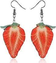 Drop Earrings For Women Girls Dangle Earrings Summer Fruit Style Best Friend Sisters Birthday Gifts