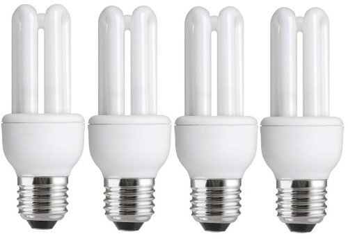 Marvelous 4 X Energy Saving 11W (u003d54W 60W) E27 ES CFL Light Bulbs Design