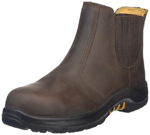 V-Tech Men's VR610 Stallion Safety Chelsea Boots 10 UK Brown