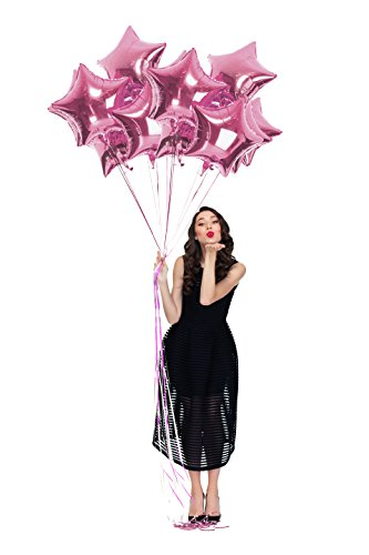 Treasures Gifted Pack of 12 Light Pink Mylar Balloons for a Twinkle Little Star Baby Shower Girl Decorations 18 Inch Metallic Pastel Sparkly Foil Bridal or Bachelorette for $<!--$10.99-->