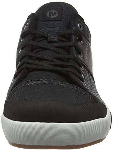 Merrell Mens Rant Low Lined Canvas Leather Casual Sneaker Shoes Negro (Black)