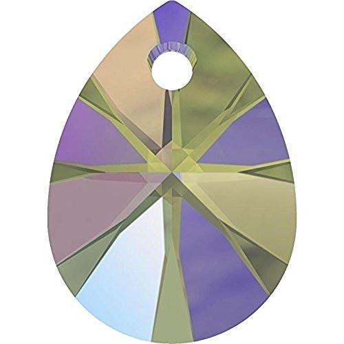 Pear Drop Pendant - 6128 Swarovski Pendant Xilion Mini Pear | Crystal Paradise Shine | 8mm - Pack of 10 | Small & Wholesale Packs