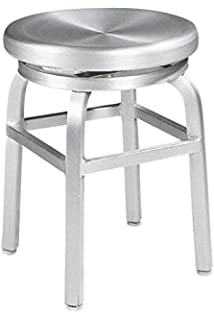 Amazon.com: Delmar High Back Swivel Vanity Stool, HIGH BACK, IVORY ...