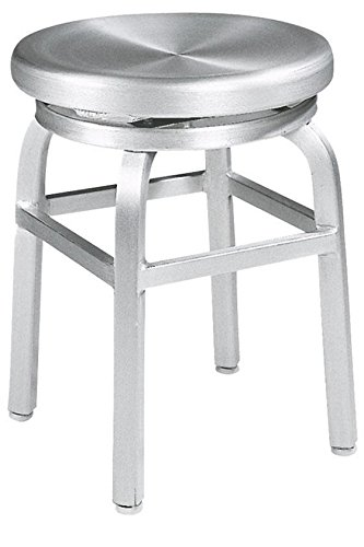 Amazon.com: Melanie Swivel Vanity Stool, SWIVEL, BRUSHED ALUMINM ...