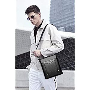 FANDARE Men's Shoulder Bag Messenger Crossbody Satchel Office Work Bag Fits iPad 9.7 inch Tablets Waterproof Travel…