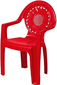 Nilkamal Plastic Bright Red Toy Chair