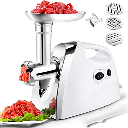 Giantex 2800W Electric Meat Grinder Sausage Stuffer Maker Stainless Cutter Home Kitchen and Commercial Use UL Certificate ()