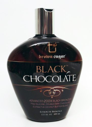 Brown Sugar BLACK CHOCOLATE 200X Black Bronzer - 13.5 oz. by Tan Inc. (Best Suntan Lotion For Black Skin)
