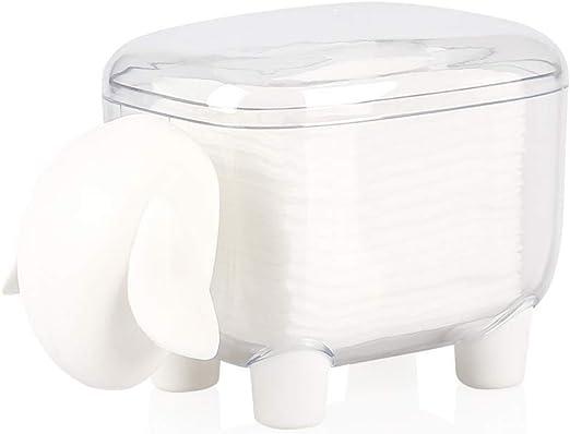 Bocotoer - Dispensador de Bolas de algodón con Forma de Oveja con Tapa, Color Blanco: Amazon.es: Hogar