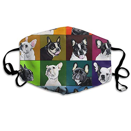 large-scale Unisex Mouth Mask Portrait of Bulldog Flu Dust Masks Filters Half Face Earloop Masks Surgical Masks for Outdoor Cycling