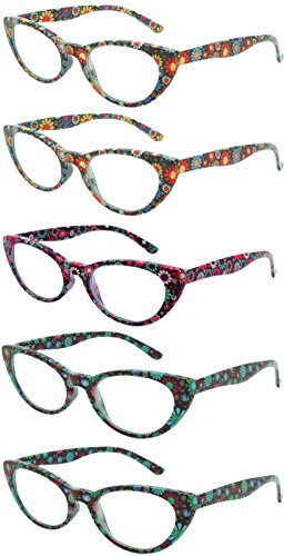 Readers 5 Pack Elegant Womens Mens Reading Glasses - Sunglasses With Inexpensive Readers