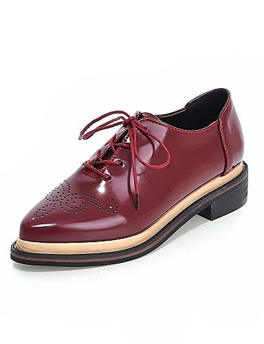 burgundy Bajo Casual black Negro Bermellón uk6 y mujer us8 cn39 us5 Comfort Trabajo Semicuero uk3 Puntiagudos ZQ Oxfords Zapatos burgundy Vestido Tacón eu39 de us8 cn34 eu35 uk6 eu39 Oficina w746yqI1