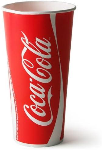 Coca Cola vasos de papel 22 oz/630 ml - manga de 50 | 63 cl vasos de Coca Cola, restaurante de comida rápida vasos de papel, de la marca vasos de Coca Cola: Amazon.es: Hogar