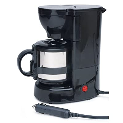 Roadpro RPSC-784 12-Volt Quick Cup Coffee Maker with 16 oz. Metal Carafe from Roadpro
