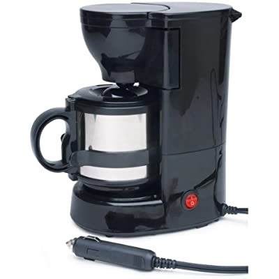 Click for Roadpro RPSC-784 12-Volt Quick Cup Coffee Maker with 16 oz. Metal Carafe