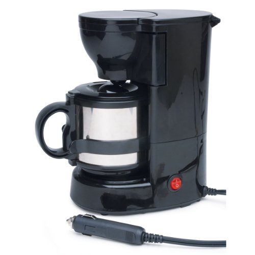 Roadpro RPSC-784 12-Volt Swift Cup Coffee Maker with 16 oz. Metal Carafe