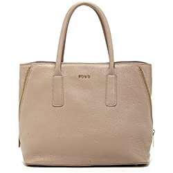 SUSU Beige Tote Handbags For Women Pebble Leather Purse with Zipper Closure For Work Soft Genuine Real Leather Handbag Clearance Cute Bag On Sale
