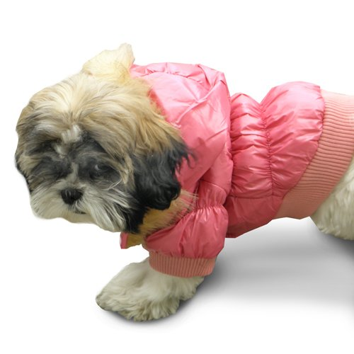 Platinum Pets Dog Winter Dog Coat, Large, Pink, My Pet Supplies