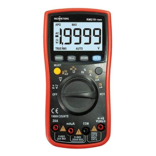 Multimeter, RICHMETERS RM219 True-RMS Digital Multimeter AC DC Voltage Current ()