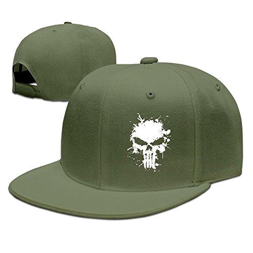 MaNeg Punisher Skull Unisex Fashion Cool Adjustable Snapback Baseball Cap Hat One Size - Store Miami Chanel