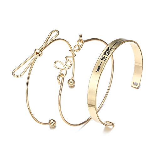 Jewels Galaxy Mesmerizing Romantic Love & Note Design Brilliant Cuff Bracelet for Women/Girls