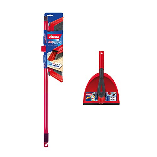 Vileda DuActiva' 2-in-1 Anti-Dust Broom + Dustpan Set